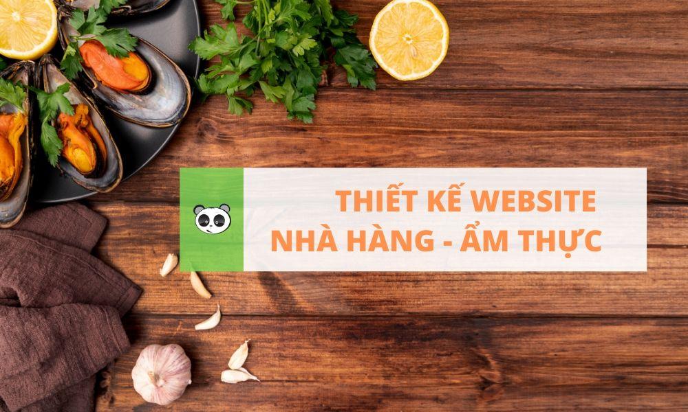 Thiết kế website nhà hàng ẩm thực